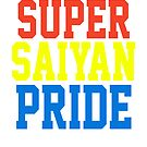 SUPER SAIYAN PRIDE T-shirt - Cena Hustle Loyalty Respect PARODY by majinstevieart
