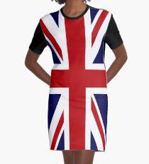 Union Jack Flag of the UK Graphic T-Shirt Dress