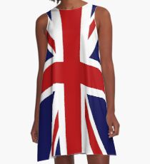 Union Jack Flag of the UK A-Line Dress
