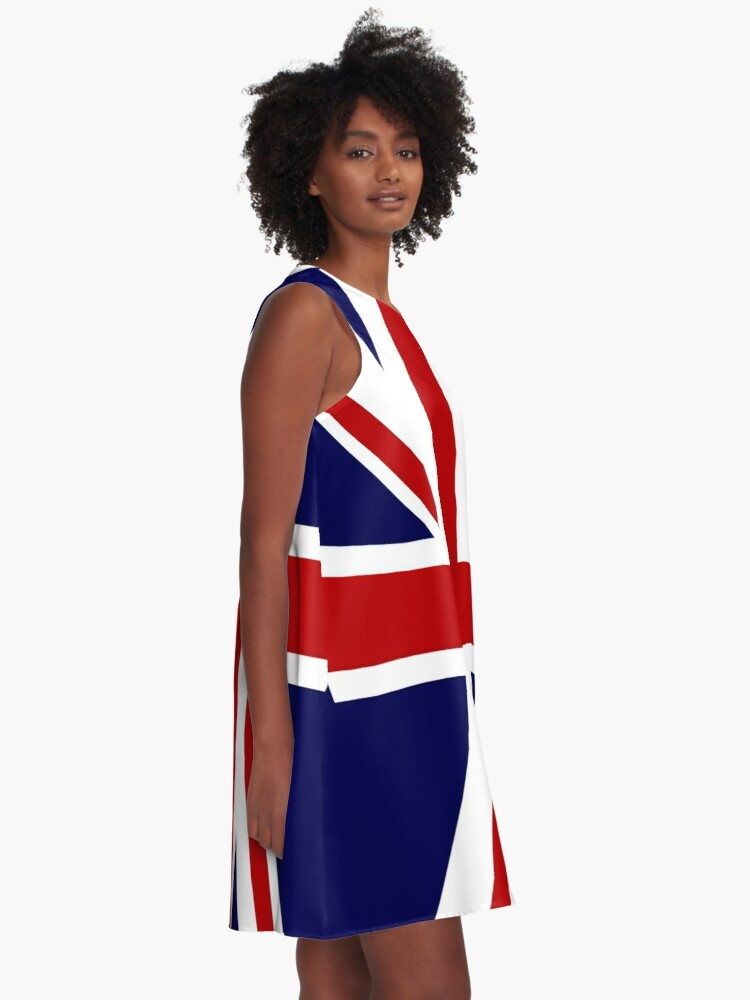 Alternate view of Union Jack Flag of the UK A-Line Dress