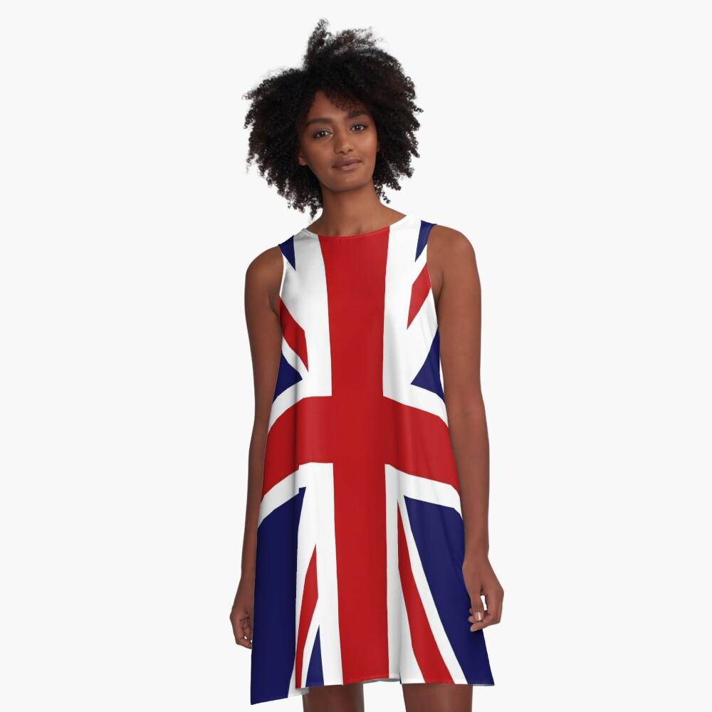 Union Jack Flag of the UK A-Line Dress