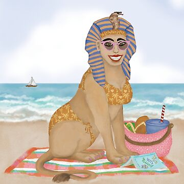 Sphinx  on the Beach by Fullfrogmoon