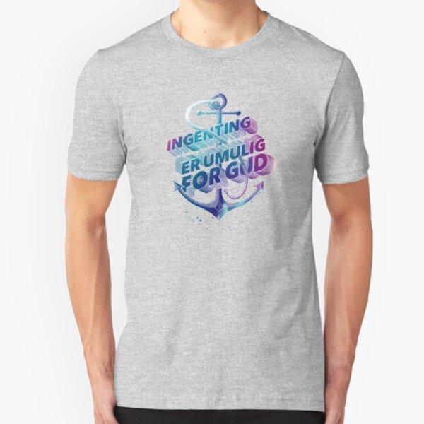 Ingenting er umulig for Gud Slim Fit T-Shirt