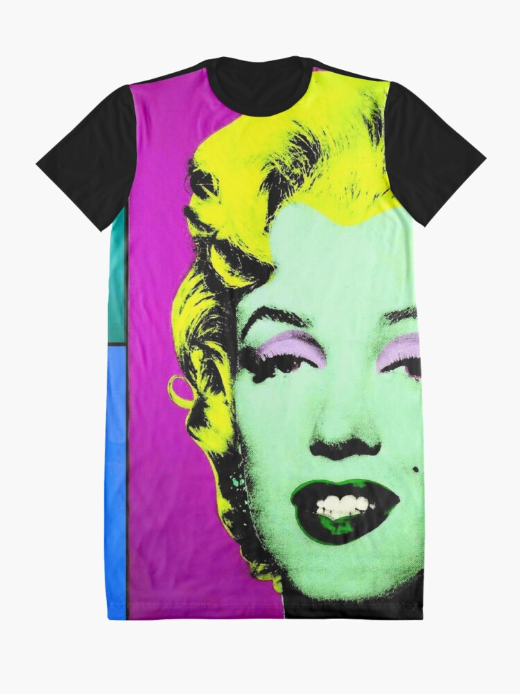 Alternate view of MARILYN : Vintage Fantasy Warhol. Graphic T-Shirt Dress