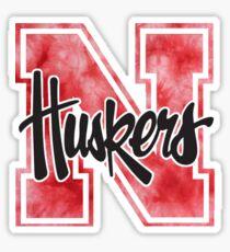 University of Nebraska Tie Dye Sticker