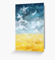 Clouds and Wheat Field Greeting Card
