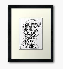 David Tennant Silhouette Doctor Who Quote Framed Print