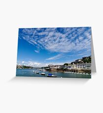 View from river Dart towards Dartmouth, Devon, England  Greeting Card