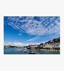 View from river Dart towards Dartmouth, Devon, England  Photographic Print