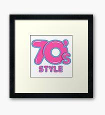 70s Style Glitter Emblem  Framed Print