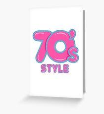 70s Style Glitter Emblem  Greeting Card