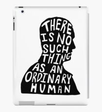 Christopher Eccleston Silhouette Doctor Who Quote iPad Case/Skin