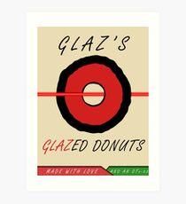 Glaz's Glazed Donuts Art Print