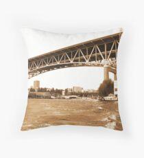 I5 Bridge- sepia Throw Pillow