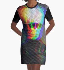 Pop Art Portrait Graphic T-Shirt Dress