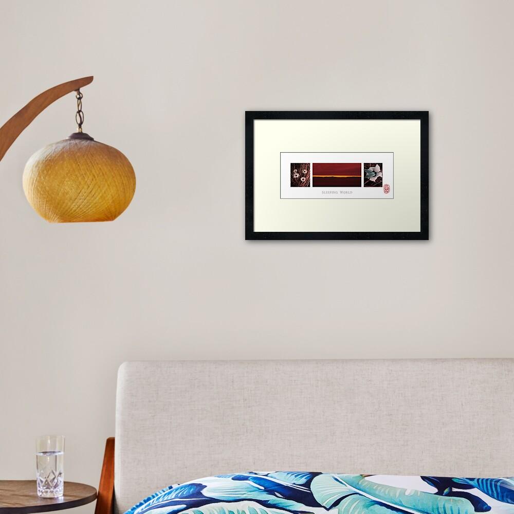 Sleeping World Framed Art Print