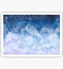 Pink and Blue Clouds Sticker