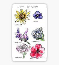 A Study in Flowers Sticker