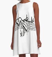 Palestine-Handala A-Line Dress