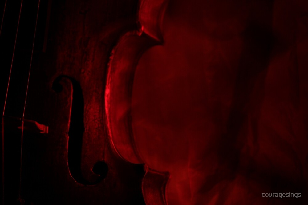 Violin (Red) by couragesings