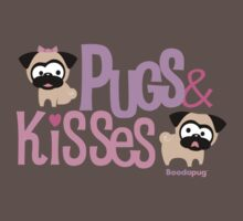 Pugs & Kisses Logo | Women's T-Shirt