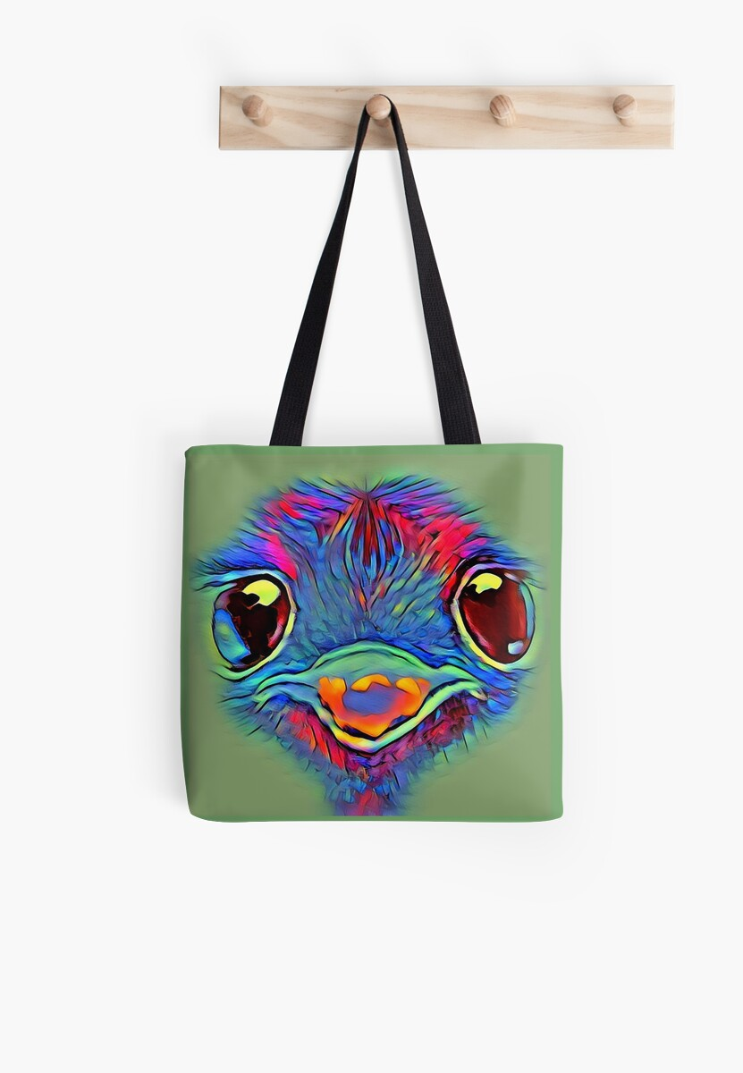 Vibrant baby emu by Julieford