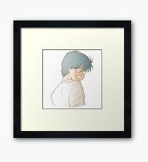 Anime boy Framed Print