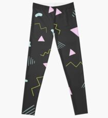 80s Triangles Pattern Leggings