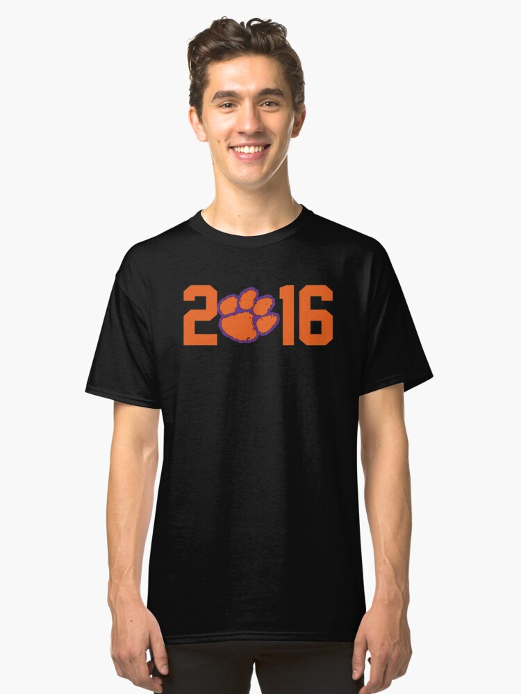 2016 National Champions Clemson Tigers Classic T-Shirt Front
