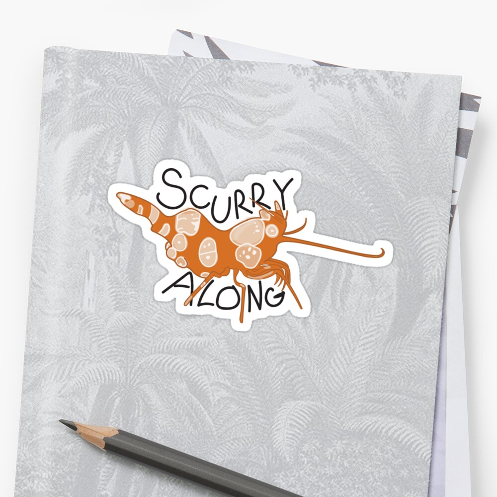 Scurry along Sticker Front