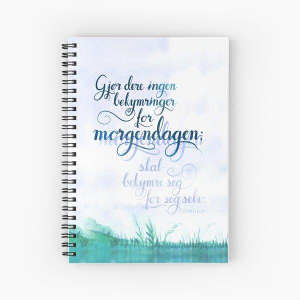 Gjør dere ingen bekymringer Spiral Notebook