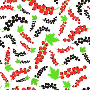 Red Black Currents Background Painted Pattern by amovitania