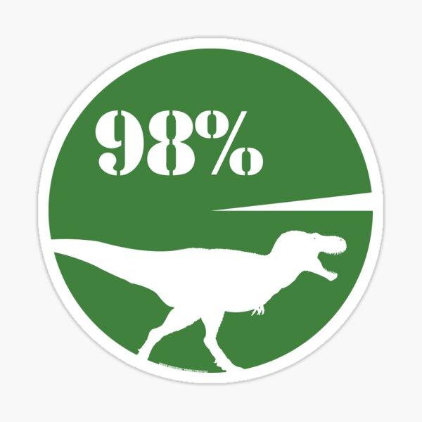 98% Dinosaur Sticker