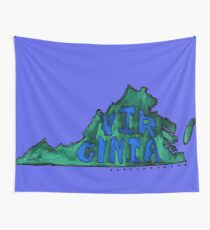 Virginia State - Blue & Green Wall Tapestry