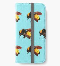 Blumen-Jungen-Bienen iPhone Flip-Case/Hülle/Klebefolie