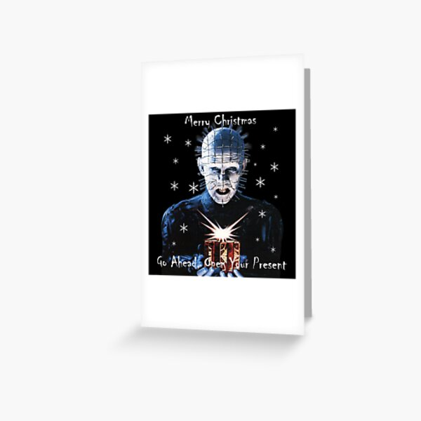 Hellraiser Christmas Greeting Card