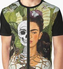 Frida Kahlo - Self Portrait (1940) Skeleton Version Graphic T-Shirt