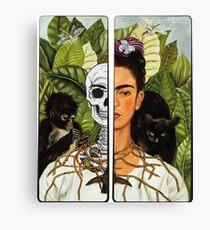 Frida Kahlo - Self Portrait (1940) Skeleton Version Canvas Print