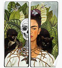 Frida Kahlo - Self Portrait (1940) Skeleton Version Poster