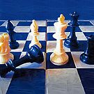 Chess in Blue by Albert