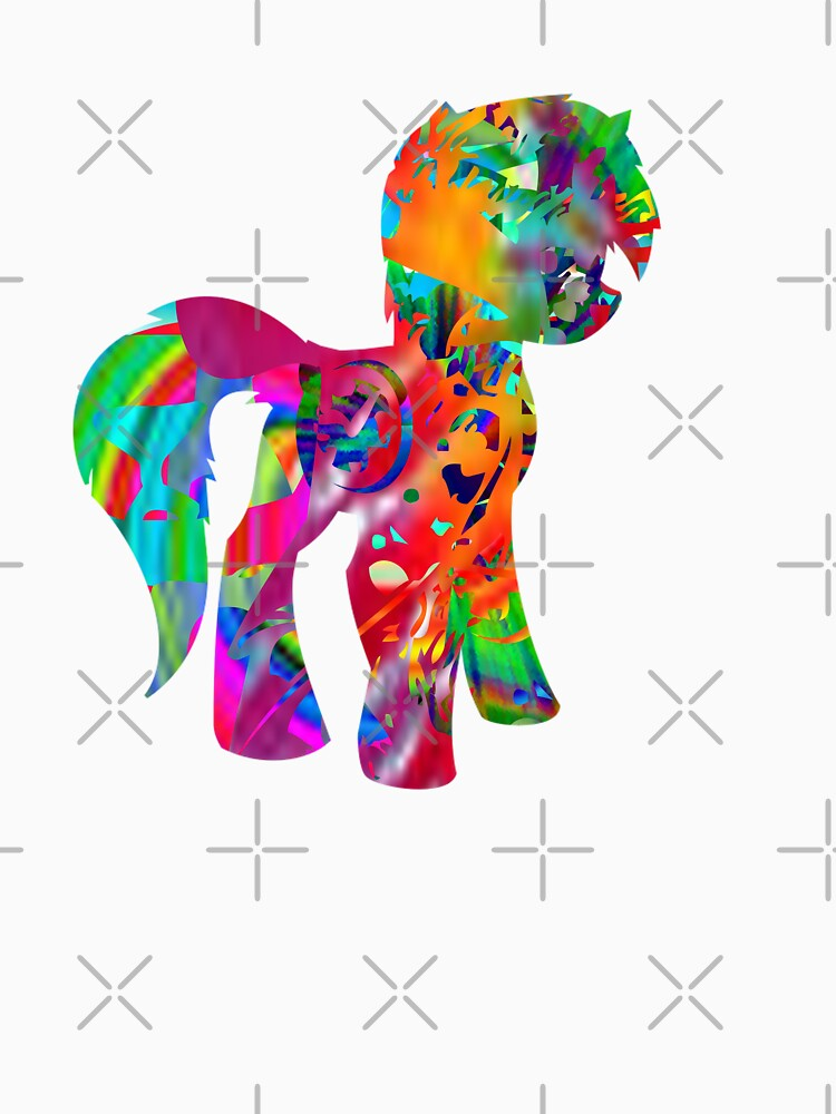 Colorful Paint Pony T-Shirt by ShyneR