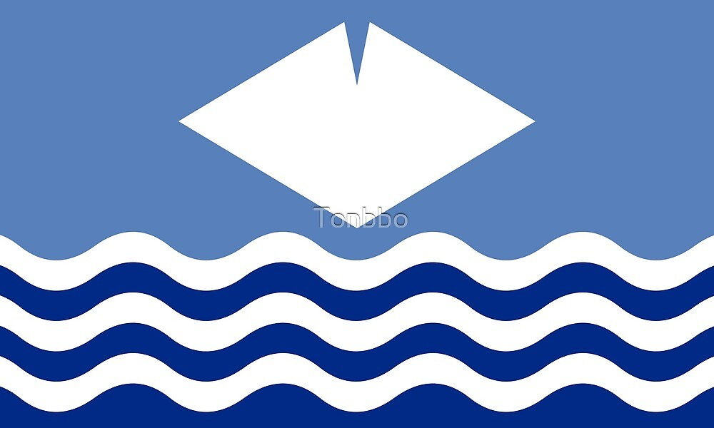 Flag of the Isle of Wight, UK by Tonbbo