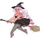 Chloe   Witch   Marker Art by FabledCreative