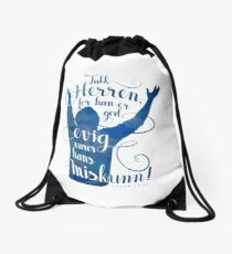 Takk Herren for han er god Drawstring Bag