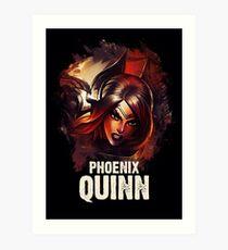 League of Legends PHOENIX QUINN Art Print