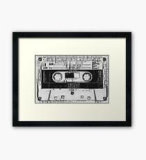 Pixel 80s audio tape Framed Print