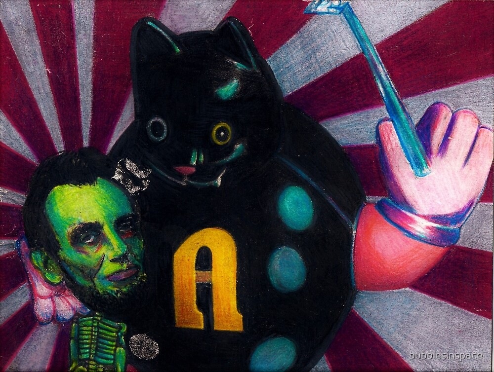 Abe & The Magical Cat by bubblesinspace