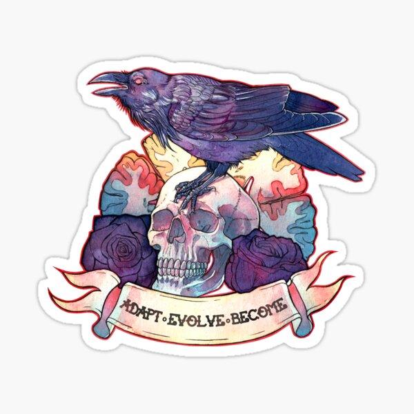 Adapt - evolve - become Sticker