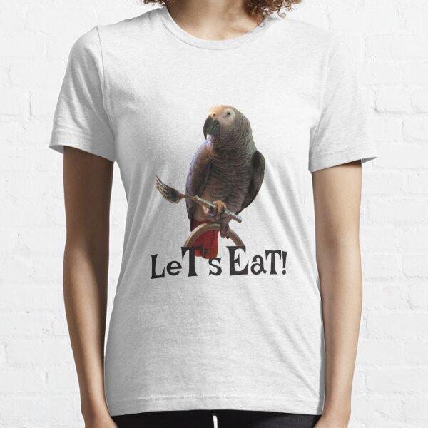 Einstein Parrot, Let's Eat African Grey Parrot Essential T-Shirt