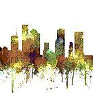 Houston, Texas Skyline - Safari Buff von Marlene Watson